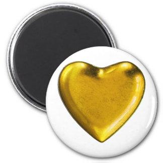 Yellow heart magnet