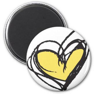 Yellow Heart Magnet— Trendy & Elegant Magnet