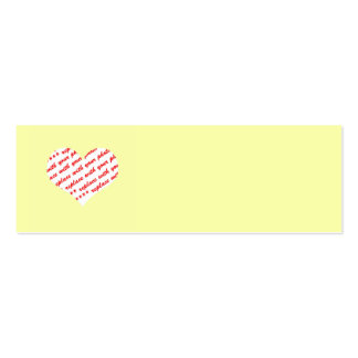 Yellow Heart Photo Frame Business Cards
