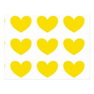 Yellow Heart Postcard