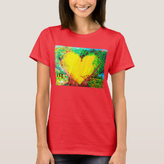 yellow heart t-shirt