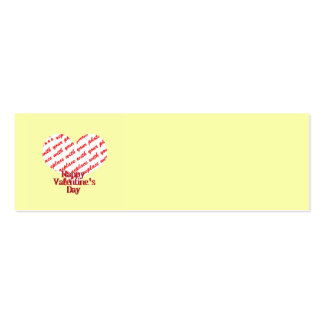 Yellow Heart Valentine Photo Frame Business Card Templates