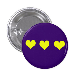 Yellow Hearts Button