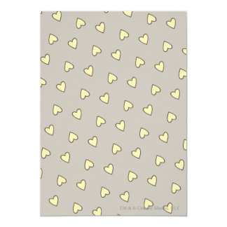 Yellow Hearts Pattern Card