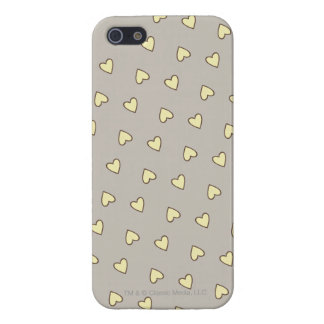 Yellow Hearts Pattern Cover For iPhone SE/5/5s