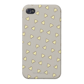Yellow Hearts Pattern iPhone 4 Cover
