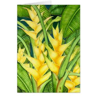 Yellow Heleconia Card