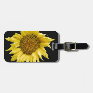 Yellow Helianthus Travel Bag Tags