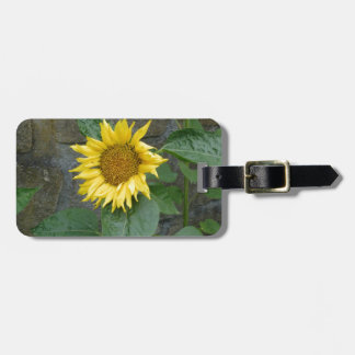 Yellow Helianthus Tags For Luggage
