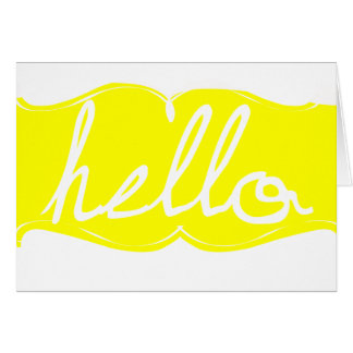 Yellow Hello Note Card
