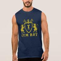 Yellow Heraldic Gym Rat Tank Top