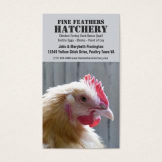 Yellow Heritage Buff Orpington Chicken Business Card