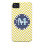 Yellow Herringbone Case-Mate iPhone 4 Case