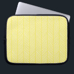 "Yellow Herringbone Laptop Sleeve<br><div class=""desc"">Yellow Herringbone</div>"