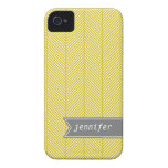 Yellow Herringbone Pattern {pick your color} iPhone 4 Cover
