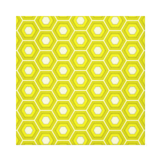 Yellow Hex Tiled Canvas