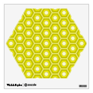 Yellow Hex Tiled Wall Decal