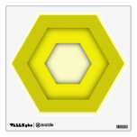 Yellow Hex Wall Decal