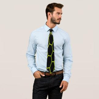 Yellow hexagon neck tie