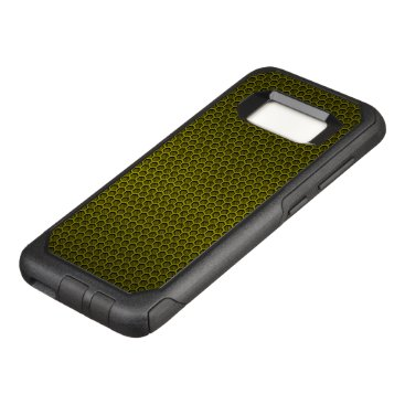 Aztec Themed Yellow Hexagonal Carbon Fiber Honeycomb Mesh OtterBox Commuter Samsung Galaxy S8 Case