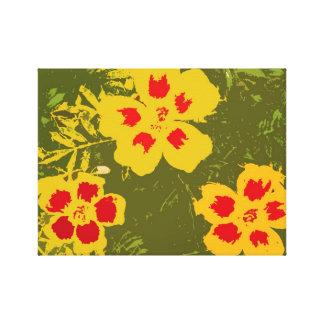 Yellow Hibiscus Art Canvas Print