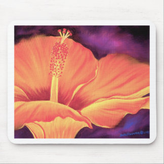 Yellow Hibiscus Art Flower Painting - Multi Mouse Pad