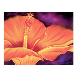 Yellow Hibiscus Art Flower Painting - Multi Post Cards