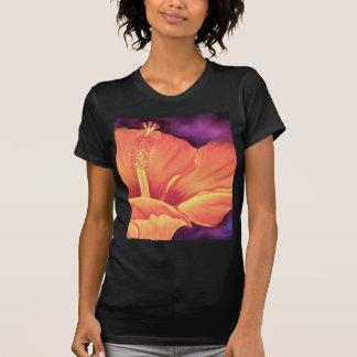 Yellow Hibiscus Art Flower Painting - Multi T-Shirt