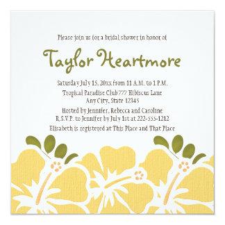Yellow Hibiscus Bridal Shower Invitations