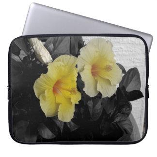 Yellow Hibiscus Computer Sleeve