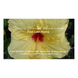 Yellow hibiscus custom floral business cards