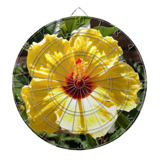 Yellow Hibiscus Dartboards