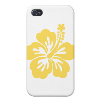 yellow hibiscus flower 11 covers for iPhone 4