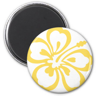 yellow hibiscus flower 12 magnet