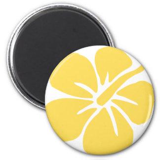 yellow hibiscus flower 1 magnet