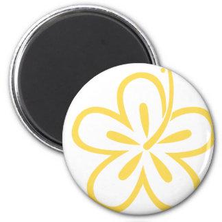 yellow hibiscus flower 20 magnet