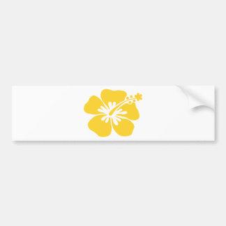 yellow hibiscus flower bumper stickers