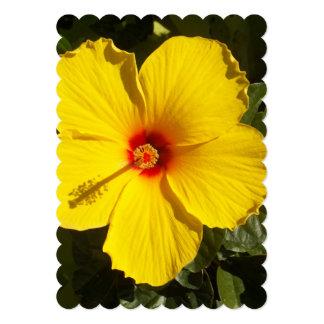 Yellow Hibiscus Flower Card