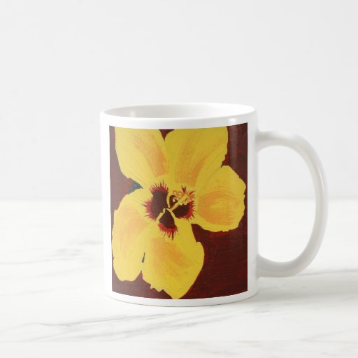 Yellow Hibiscus Flower Coffee Mug