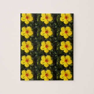 Yellow Hibiscus Flower Jigsaw Puzzle