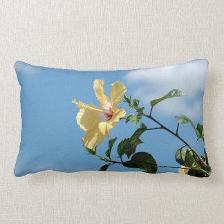 Yellow hibiscus flower MoJo Pillow