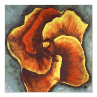 Yellow Hibiscus Flower Painting Thank You Card