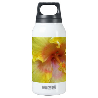 yellow hibiscus flower picture insulated water bottle