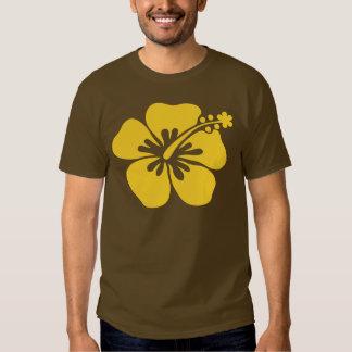 yellow hibiscus flower t-shirt