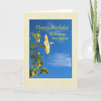 Yellow Hibiscus for Someone Very Special Card