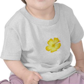 yellow_hibiscus_hawaii state yellow flower flower tee shirts