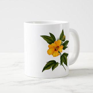 Yellow Hibiscus jumbo white Coffee Mug