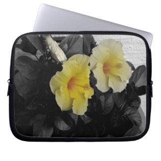 Yellow Hibiscus Laptop Sleeve