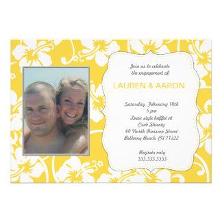 Yellow Hibiscus Luau Photo All Occasion Invites