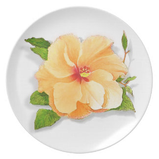Yellow Hibiscus Party Plates